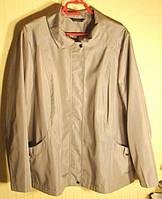 Куртка женская демисезонная бежевая плащевка батал BM (размер 60-64, XXXL)