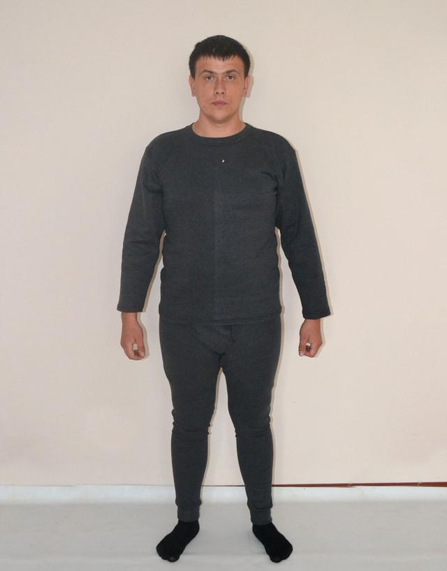 Комплект термобілизни чоловічий, українського  виробництва (сірий)