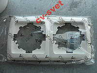 Рамка двойная горизонтальная VIKO CARMEN белый