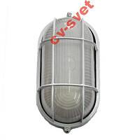 Светильник герметический овал 60W белый с реш.