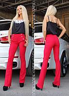 Стильные брюки клеш р-3112157