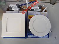 Светодиодная LED панель 6W ABS 450LM LM460 круг