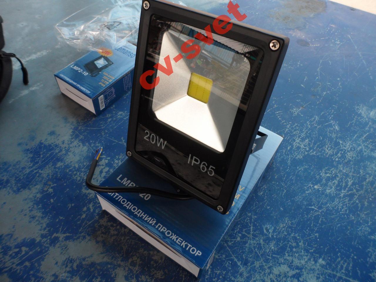 LED Прожектор 20w IP65 LEMANSO LMP2-20, фото 1