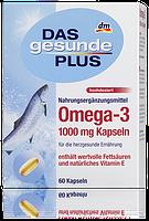 Биологически активная добавка Omega 3 1000mg Das gesunde Plus 60 шт