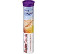 Шипучие таблетки-витамины Мультивитамин с комплексом 10 витаминов DAS gesunde PLUS Multivitamin Brausetabletten 20 шт