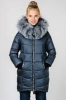 Зимняя жеская куртка удлиненная с натуральным мехом Chanevia