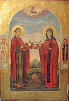 Икона Св. князь Михаил и св. Ксения  19 век