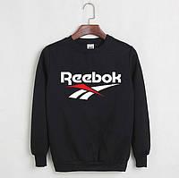 Свитшот чёрный REEBOK ( цветное лого )