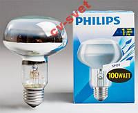 Лампа рефлекторная R80 Philips 100w E27