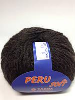Пряжа peru soft  Италия - цвет черно-коричневый