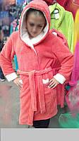 """Махровый женский халат  из вставками высококачественной ткани махра """"софт""""."""