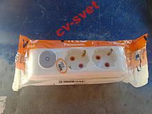 VIKO Multi-Let Колодка 2 Гнізда З Заз і кнопкою