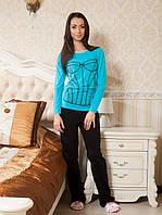 Женская пижама с длинным рукавом. Костюм для дома. Разные расцветки