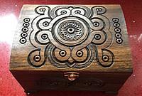 Скринька дерев'яна ручної роботи 16,5*12*10 см, фото 1
