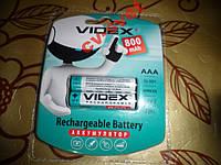 Аккумуляторная батарея ААА 1.2V VIDEX 800mAh блистер 2шт.