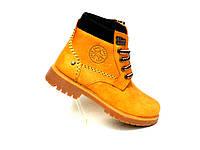 Зимние ботинки подросток стиль Timberland рыж, фото 1