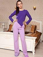 Женская хлопковая пижама (штаны+кофта)