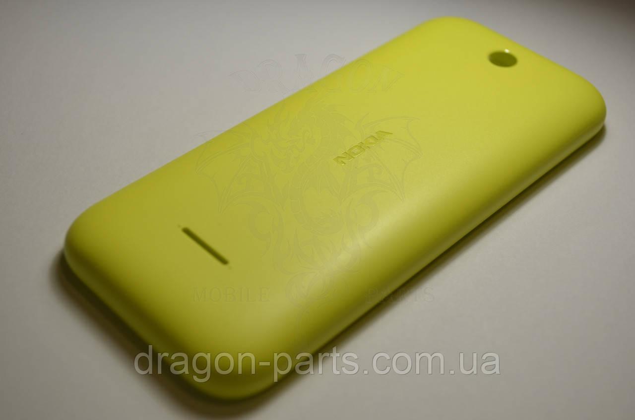 Задняя крышка  Nokia  225 желтая оригинал , 9448779
