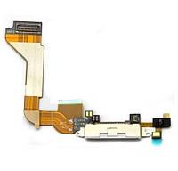 Шлейф с разъемом зарядки для iPhone 4S (white) Качество