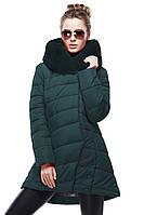 Стильная  курточка с натуральным мехом мутон