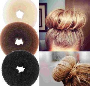 Мочалка - бублик для волос ( 9см )