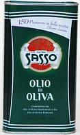Оливковое масло Sasso Olio di Oliva смесь рафинированного и extra vergine ж/б 1 л., фото 1