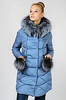 Зимняя куртка с чернобуркой удлиненная Chanevia на синтепоне