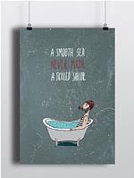 Твердый постер Sailor Моряк А2 на подарок