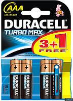 Батарейка Duracell Turbo Max AAA микро r3 Alkaline уп 4 шт
