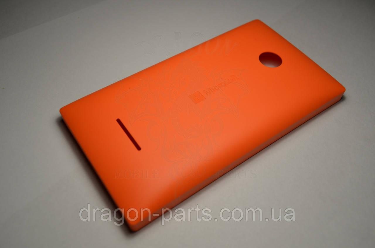 Задняя крышка  Microsoft Lumia 435 оранжевая оригинал , 02508V0