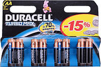 Батарейка Duracell Turbo Max AA пальчик r6 Alkaline уп 8 шт