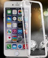 Силиконовый прозрачный чехол с камнями Сваровски для Iphone 5 5S