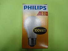 Лампа розжарювання Philips 100w A55 E27 матова