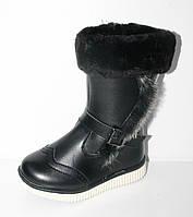 Подростковые зимние ботинки на девочек от фирмы GFB A4-1 (8 пар, 27-32)