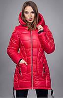 Молодежная зимняя  куртка  с рельефными швами