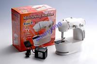 Мини швейная машинка 4 в 1 с педалью + адаптер 220