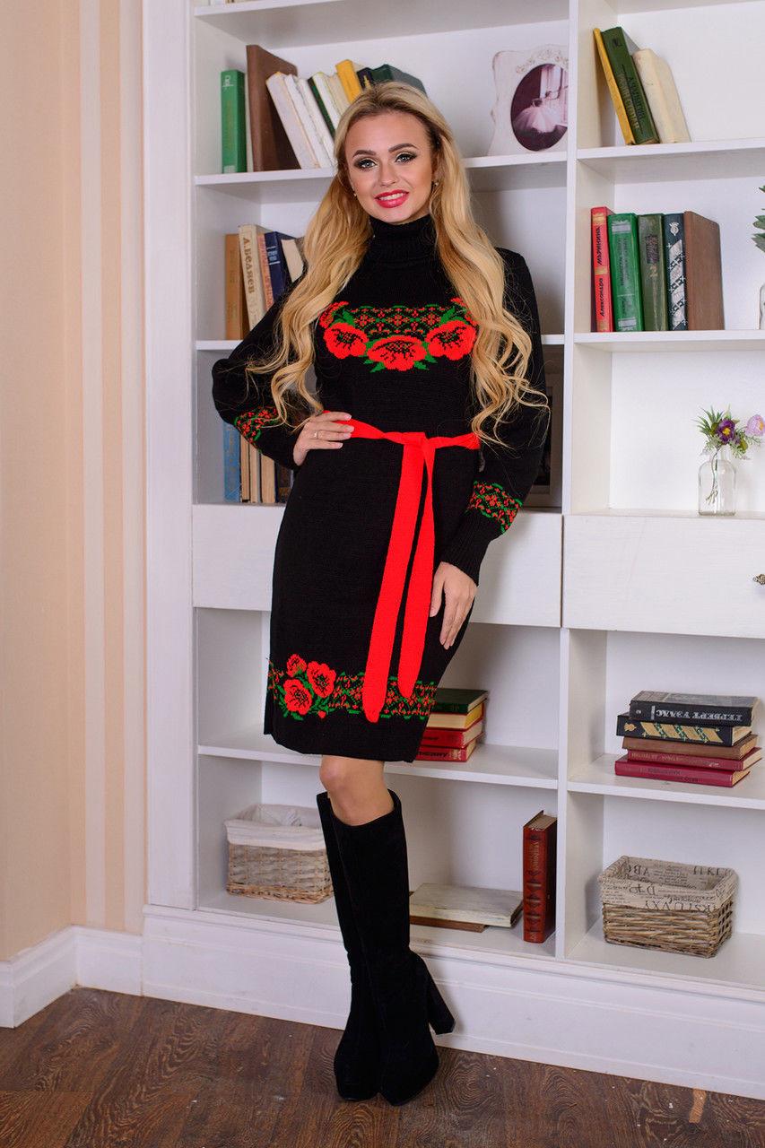 Платье вязаное Венок