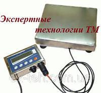 Товарные нержавеющие электронные весы ТВ1-200-50-(400х400)-12h до 200кг.