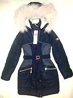 Пальто теплое зимнее на девочку 122, 128, 134, 140, 146 см