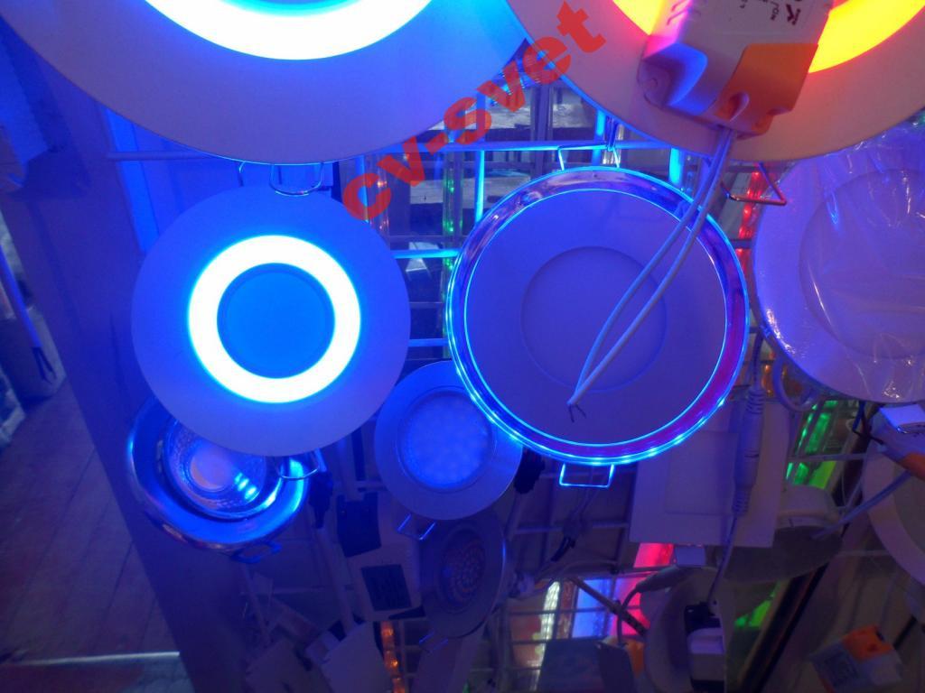LED панель 8W 560LM Lemanso LM439 4500K+синий