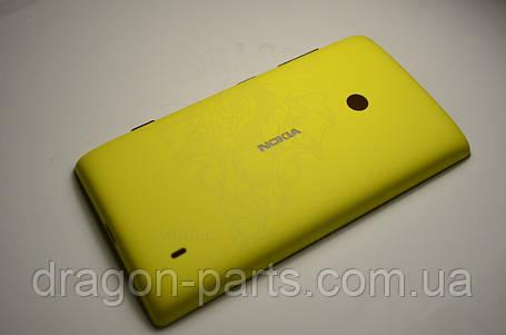 Задняя крышка  Nokia Lumia 520 желтая оригинал , 02503B0, фото 2