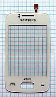 Тачскрин сенсорное стекло для Samsung S6102 Galaxy Y Duos white