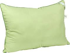 Подушка бамбуковая 70х70 ткань микрофибра (салатовая, белая)