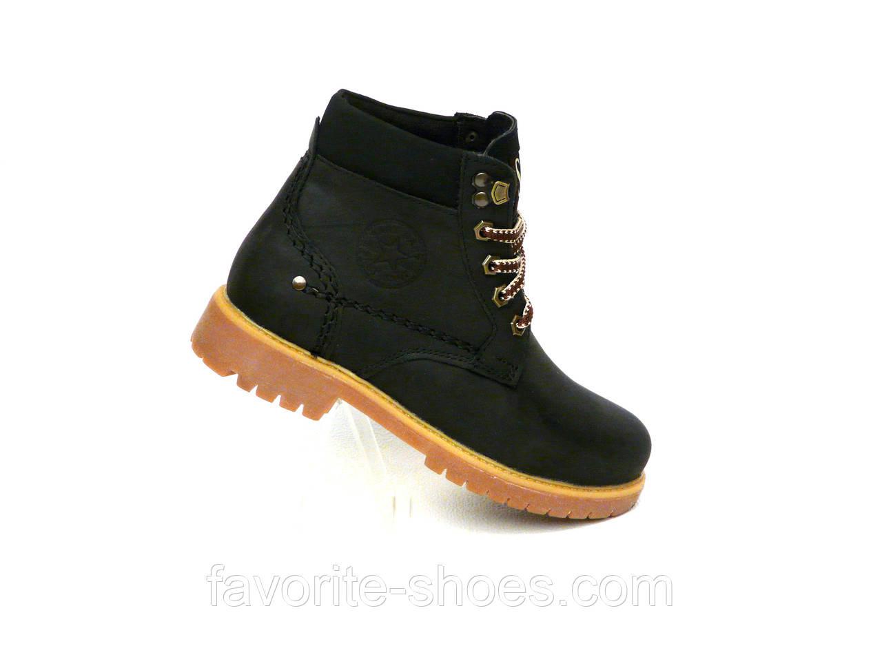 Зимние ботинки подросток стиль Timberland чёрный