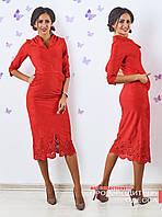 Красное платье Аврора с перфорацией