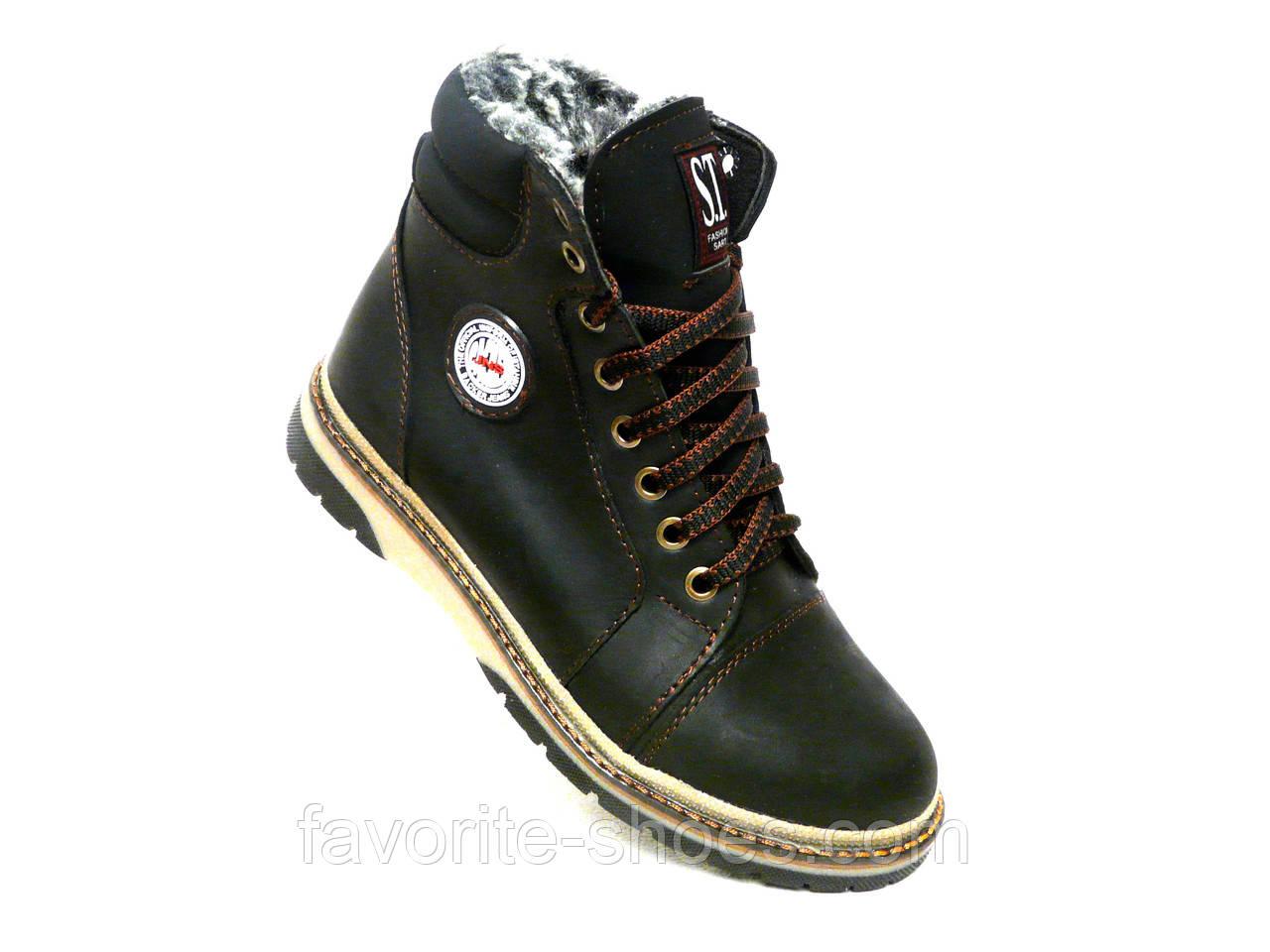 Зимние ботинки подросток стиль Timberland высокий