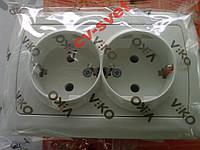 Розетка двойная с заземлением VIKO CARMEN, фото 1