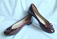 Туфли женские балетки лаковые Clarks. Размер 38 (UK 5E).