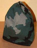 Новая шапка трикотажная, двойная, детская.