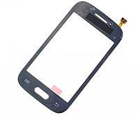 Тачскрин сенсорное стекло для Samsung S6312 Galaxy Young Duos dark blue